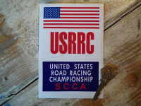 United States Road Racing Championship Sticker 4