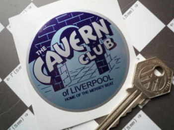 "The Cavern Club of Liverpool 'Home of the Mersey Beat' Sticker. 2.75"" or 3.25""."
