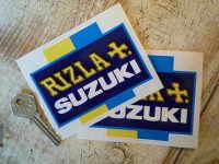 "Suzuki Rizla Moto GP Cross Stickers 4"" Pair"
