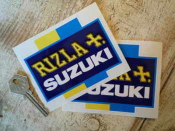 "Suzuki Rizla Moto GP Cross Stickers 4"" Pair"