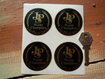 John Player Special World Champions Stickers. 55mm Set of 4.
