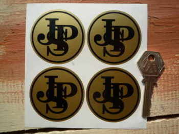 JPS John Player Special Logo Wheel Centre Stickers. 50mm Set of 4.