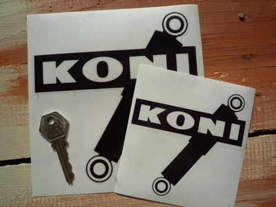 Koni Shock Absorbers Black & Clear Shaped Stickers. 4