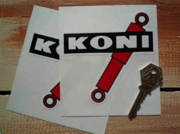 "Koni Shock Absorbers Coloured Shaped Stickers. 4"", 5"", 6"", 7"" or 8"" Pair."
