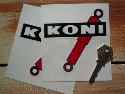 Koni Shock Absorbers Coloured Shaped Stickers. 4