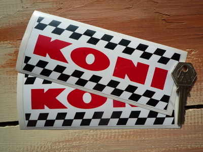 Koni Chequered Oblong Stickers. 6