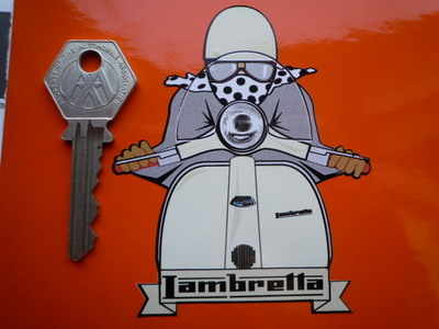 Lambretta Cafe Racer Pudding Basin Sticker. 3