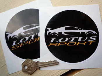 "Lotus Sport Circular Stickers. 3"" or 4"" Pair."