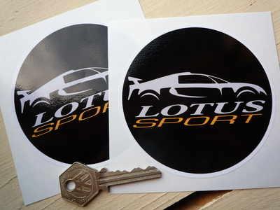 Lotus Sport Circular Stickers. 3