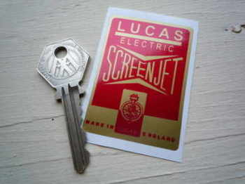 Lucas Electric Screen Jet Sticker. 60mm or 80mm.
