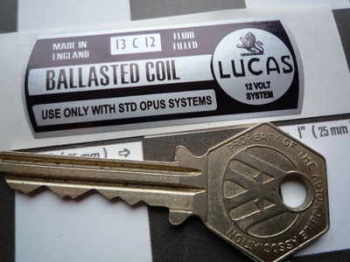 Lucas Ballasted Coil Sticker. 12V. 1.