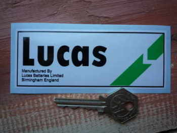 Lucas Motorcycle Battery Sticker. Green Dash Break. No.11.