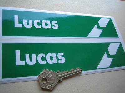 Lucas Break Green & White Oblong Stickers. 8
