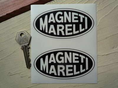 Magneti Marelli Black & Clear Oval Stickers. 4
