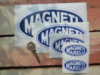 Magneti Marelli Blue & White Oval Stickers. 2.75