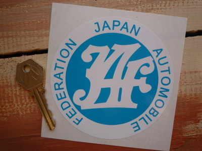 Japan Automobile Federation. Circular Sticker. 4