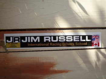 "Jim Russell International Racing Drivers School Sticker. 16""."