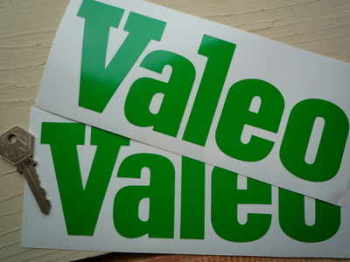 "Valeo Cut Text Stickers. 8"" Pair."