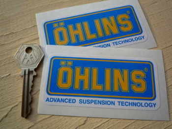 "Ohlins Advanced Suspension Technology Stickers. 3.75"" Pair"
