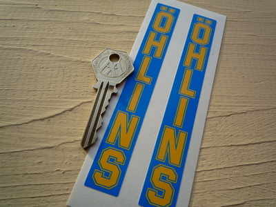 Ohlins Fork Slider Vertical Text Stickers. 5