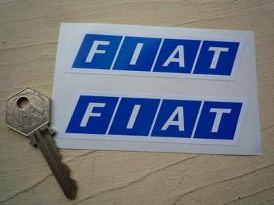 Fiat Logo. Slanted Oblong Stickers. 4