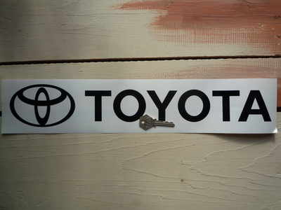 Toyota. Black Cut Text Sticker. 18
