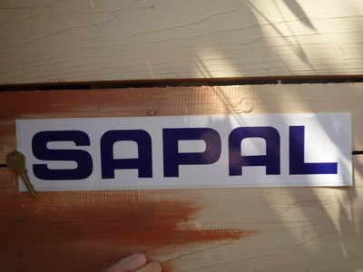 Sapal Blue & White Oblong Sponsors Sticker. 15.75