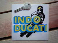 "Indo-Ducati No.1 Bike Racer Sticker. 5""."