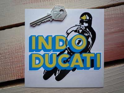 "Indo-Ducati No.1 Bike Racer Sticker. 5""."