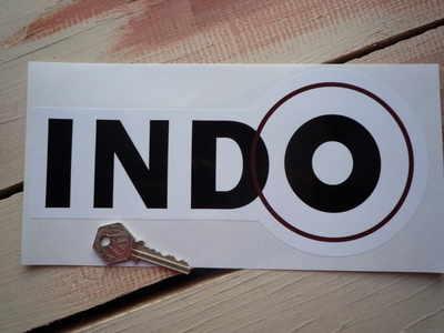 """Indo Ducati Black & White Logo Sticker. 6"""", 8"""", or 10""""."""