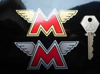 """Matchless Winged M's Stickers. 3.5"""" Pair."""