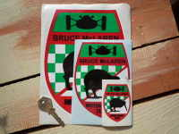 Bruce McLaren Motor Racing Team Shield Stickers. 2.5