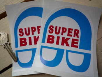 "Super Bike Stickers. 3.5"" Pair."