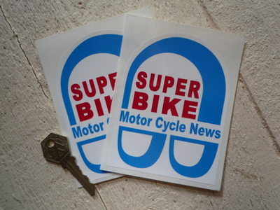 Super Bike Motor Cycle News Stickers. 3.5