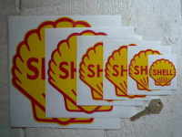 "Shell Classic Logo Stickers. 2"", 3"", 4"", 4.5"", 6"", or 8"" Pairs."