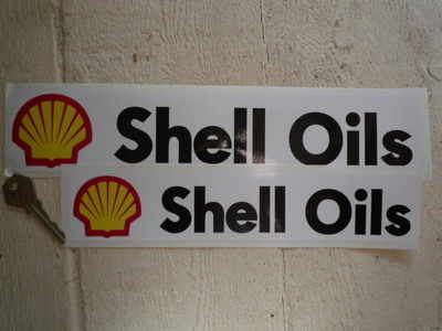 Shell Oils Classic Oblong Stickers. 10
