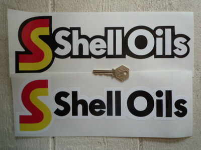 Shell Oils Shaped Stickers. 12