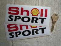 "Shell Sport Oblong Stickers. 6"" Pair."