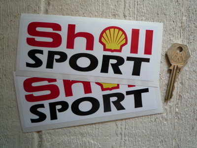Shell Sport Oblong Stickers. 6