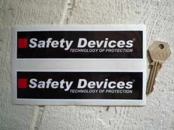"Safety Devices 'Technology of Protection' Oblong Stickers. 6"" Pair."