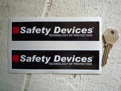 Safety Devices 'Technology of Protection' Oblong Stickers. 6