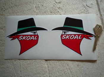 "Skoal Tobacco Sponsors Stickers. 4"" Pair."