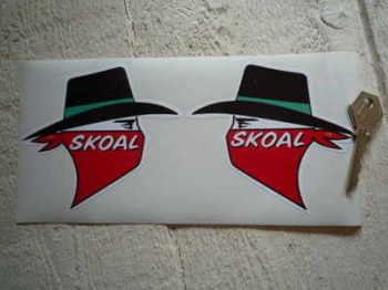 """Skoal Tobacco Sponsors Stickers. 4"""" Pair."""
