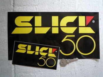 "Slick 50 Oblong Stickers. 6"" or 12"" Pair."
