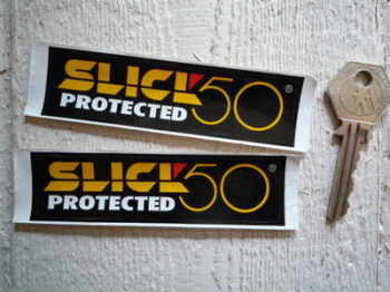 "Slick 50 Protected Stickers. 4"" Pair."