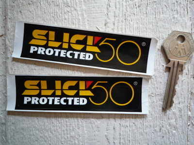 Slick 50 Protected Stickers. 4