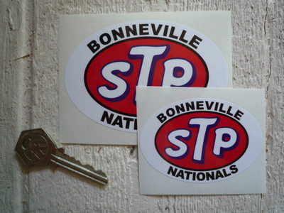 STP Bonneville Nationals Oval Stickers. 3