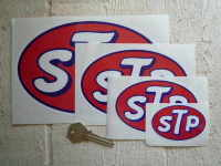 STP Oval Stickers. Various Sizes.