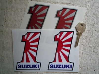 Suzuki No.1 Stickers. 4