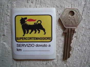 """Supercortemaggiore 'Servizio'' Service Sticker. 2""""."""